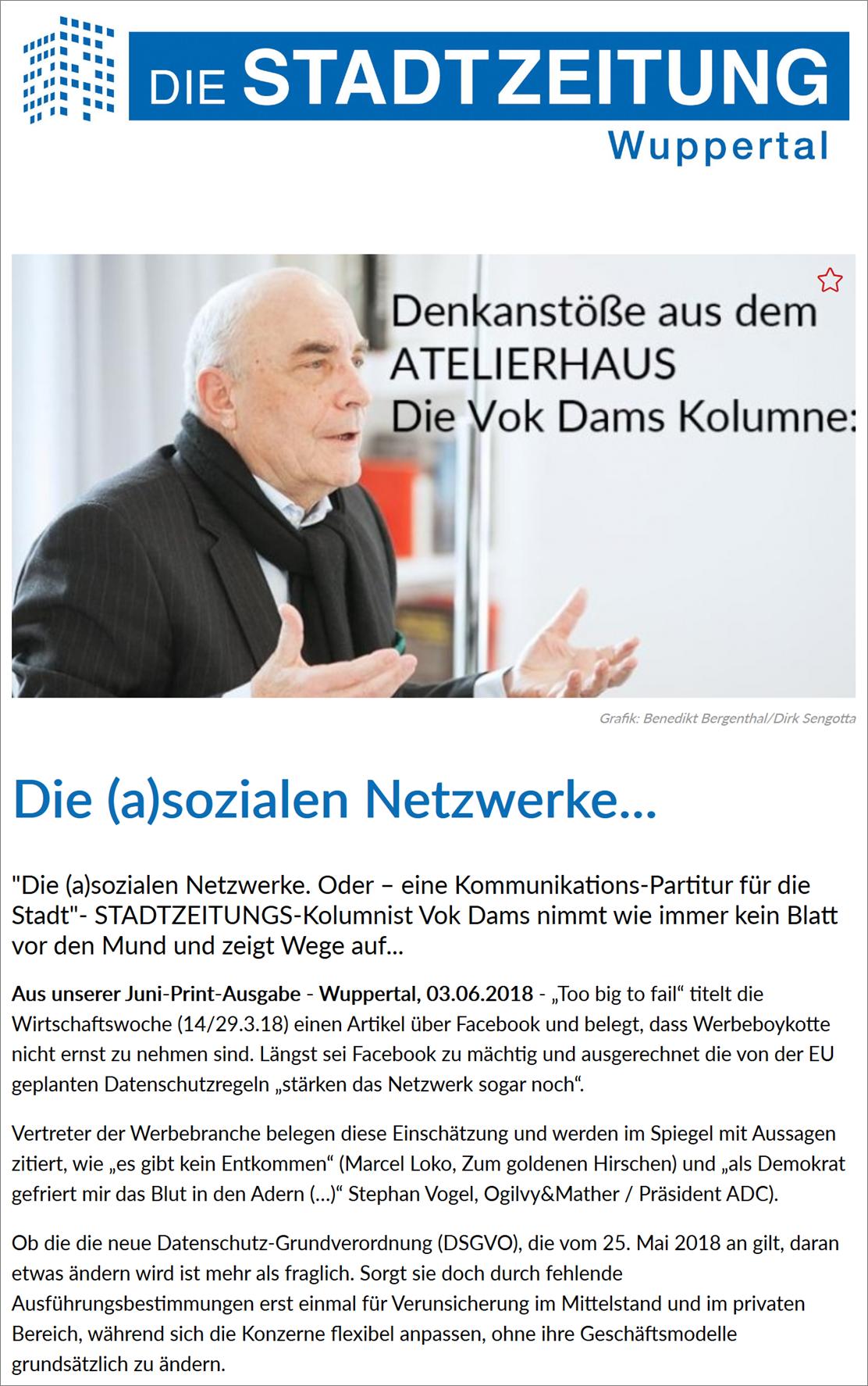 18-06-05_Die Stadtzeitung Wuppertal Ausgabe 38