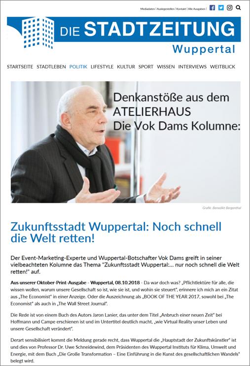 Stadtzeitung Oktober 2018 Bild